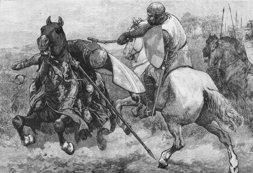 Henry de Bohun challenged Bruce to a duel- which he lost.