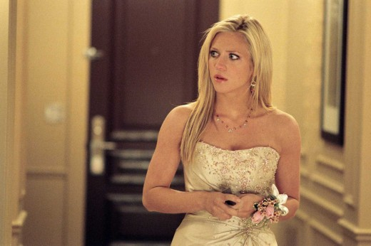 "Brittany Snow doing some ""Smell the fart"" acting."