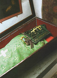One of the mummified monks at the Kiev-Pechersk Lavra