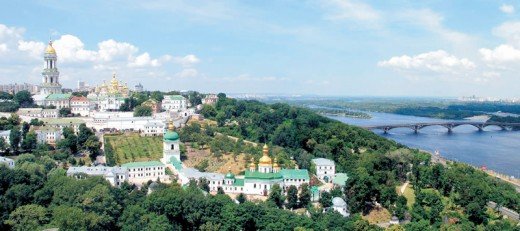 Areal view of the Kiev-Pechersk Lavra