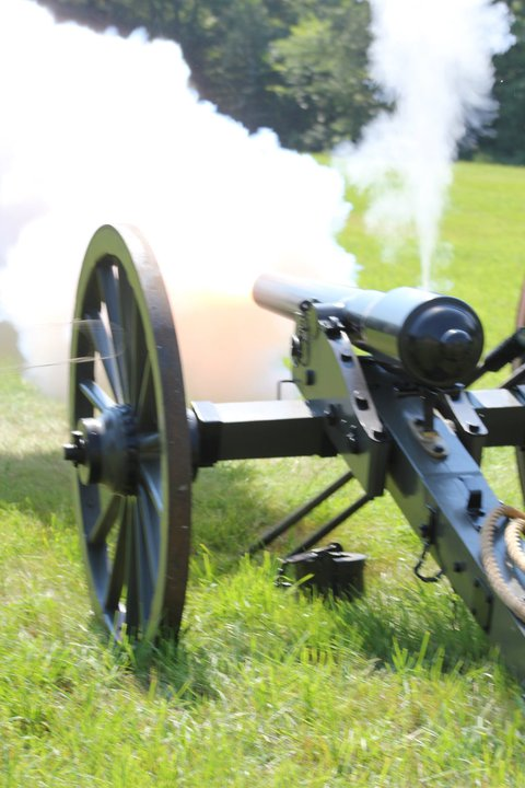 Photo credit: MissKatieLynne A hard to get shot of the smoke coming out of the gun once fired