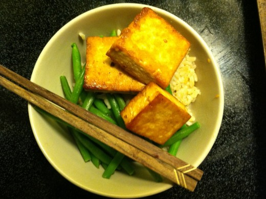 Asian Inspired Tofu, Green Beans & Brown Rice