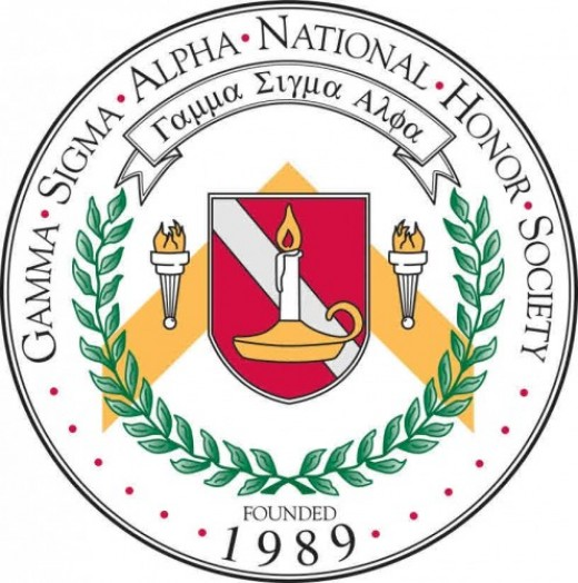 Gamma Sigma Alpha is one of several Greek academic honor societies.