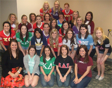 University of North Texas' chapter of Rho Lambda, the national sorority leadership recognition society.