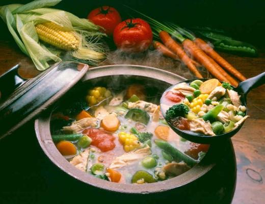 Leftover turkey vegetable soup