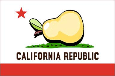 """Snopes says, """"a historically accurate California flag should look something more like this."""""""