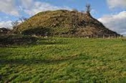 Motte of Ewyas Harold - remains of the Norman castle surmounted on Harold's structures