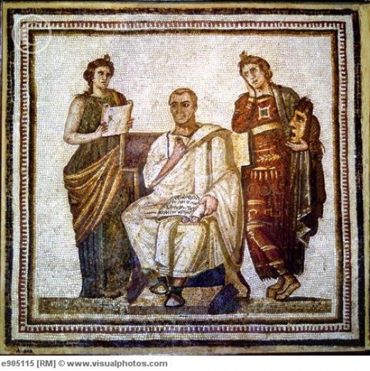 Virgil in Roman mosaic