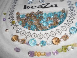 How to make a bracelet with crystal beads