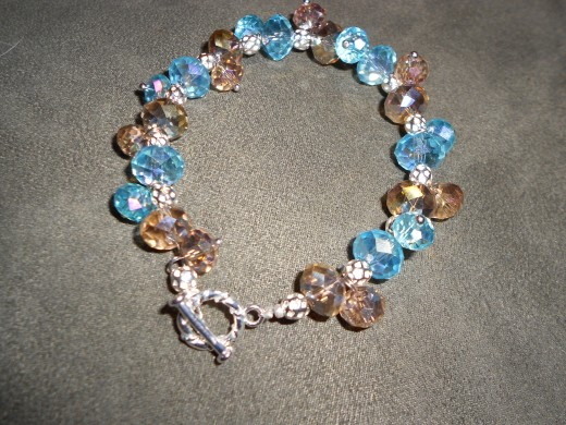 The final product.  Beading and custom made jewellery by Oakwood Crafts is availalble online at www.arccsociety.com