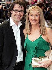 J. K. Rowling with her husband.