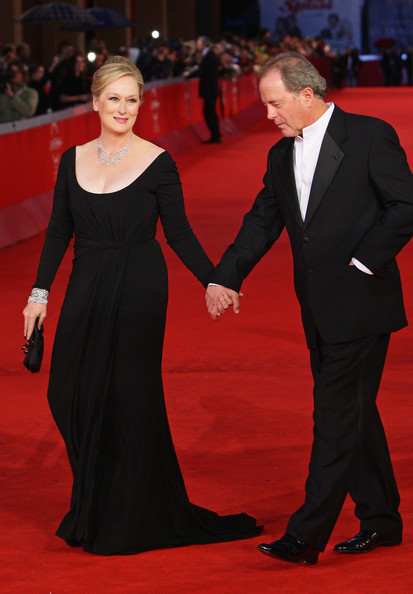 Meryl Streep with her husband.