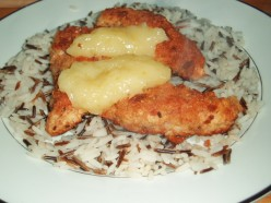 Recipe for Turkey in Bread crumbs with a rich lemon sauce Served on a Bed of Wild, Brown Rice.