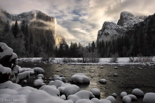 River of Mercy by David F Coppedge Breaking dawn at Yosemite