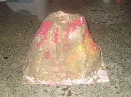 how to make a paper mache volcano wikihow