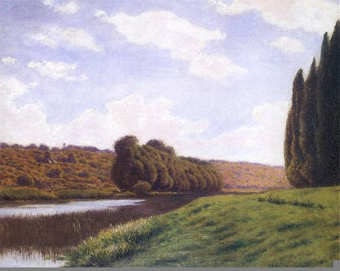 Italian Landscape with Cypresses