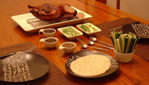 Peking Duck with Mandarin Pancakes