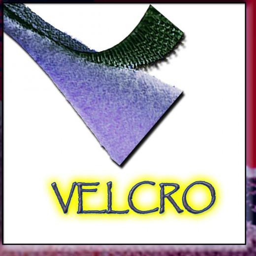 Velcro has similar properties as do the cockle-bur!