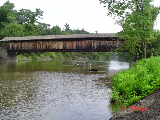Looking toward the bridge FROM Rt. 32 side - in the summer