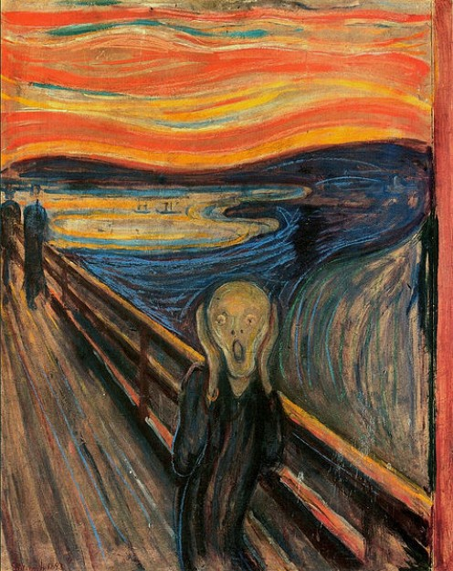 The Scream by Norwegian artist Edvard Munch