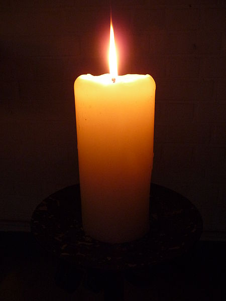 A lit candle can be so beautiful!