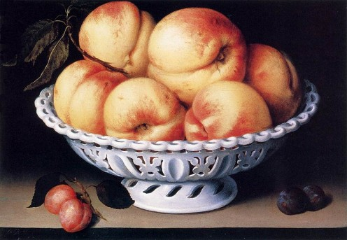 I love fruit in art. This is a beautiful piece I think by Fede Galizia.