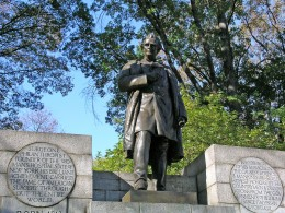 J. Marion Sims, father of American gynecology and a sadistic torturer of black women.  His attitude regarding white women was misogynistic, but his ability to harm them was limited by his ambitions and their skin.