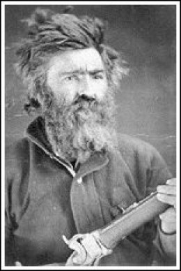 This is the first known photograph of Johnston as a mountain man. He was a scout during the 1876-1877 Sioux campaign in Montana Territory.