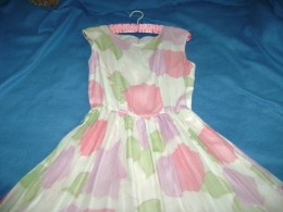 chiffon dress that inspired the pink shoes