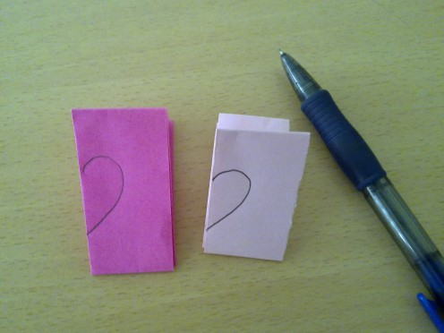 draw 1/2 heart