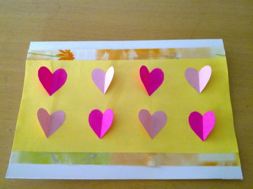 rows of hearts