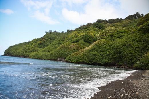 Black Sand Beach on the Road to Hana