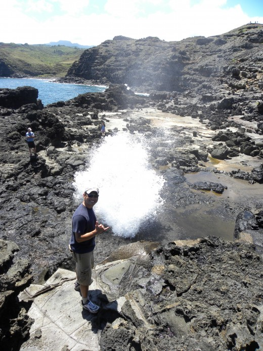 Blowhole we hiked to