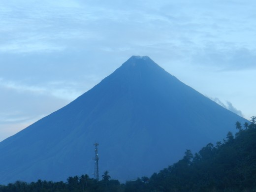 Mayon as it glows in the morning.