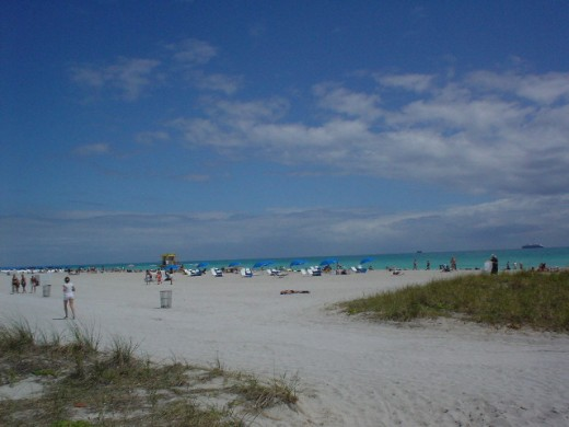 South Beach during the Summer