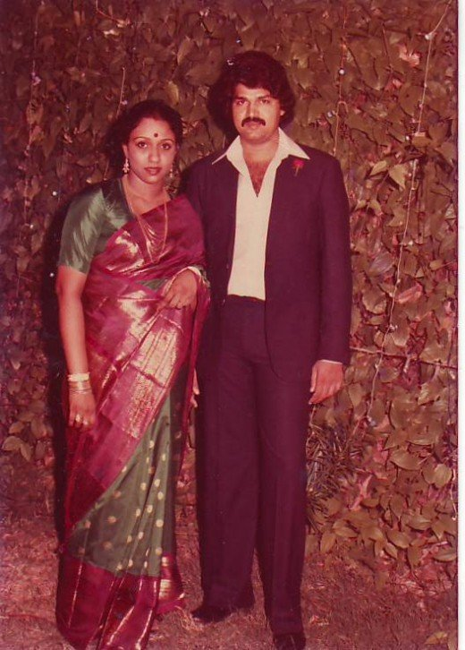 My mother with her Prince Charming who happens to be my father when they were newly-married.