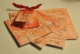 This photo shows the card spread out. It's original, easy, and attractive.