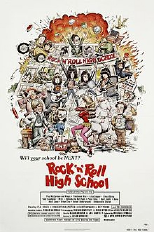 "Film poster for ""Rock N Roll High School"" (1979)"