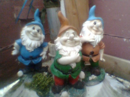 Well, I managed to get a smile out of them! Just! There's no place like Gnome! Sorry had to be said! Photo Copyright Nell Rose