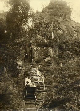 The Katoomba Colliery Scenic Railway  photo dated - 12 April 1935.