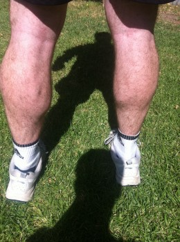 Authors calf's - years of running have created these monsters