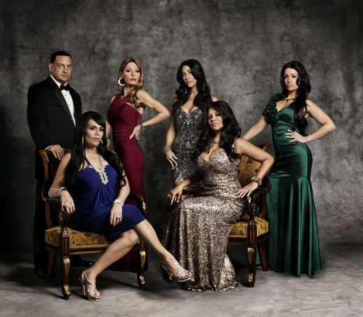 "The cast of VH1's ""Mob Wives"""
