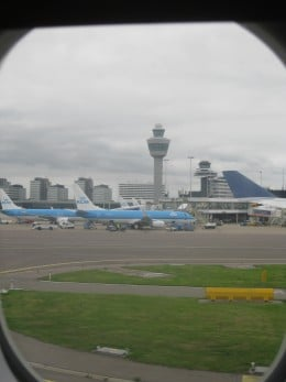 Air Traffic Control Tower at Amsterdam Airport Schiphol.