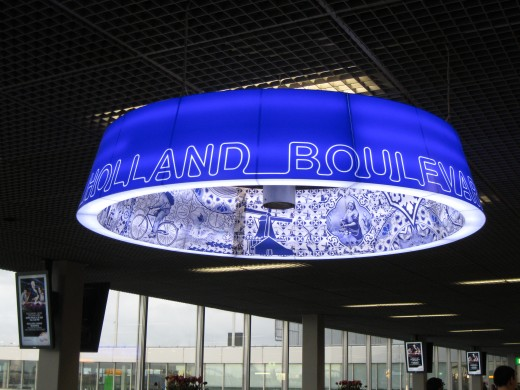 Amsterdam Airport Schiphol - Holland Boulevard ceiling decoration.