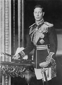 Formal Portrait of King George V1 during the war years