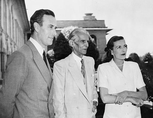 Viceroy of India: Lord and Lady Mountbatten meet Mr Mohammed Ali Jinnah, the future leader of Pakistan