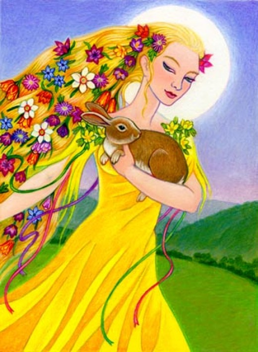 Eostre the Goddess (Please visit the site listed to see Thalia's gorgeous work)