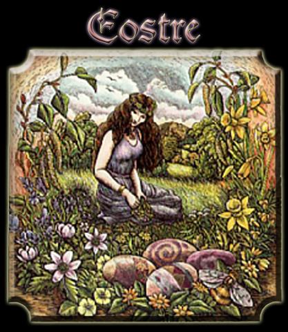 Eostre on a Calendar