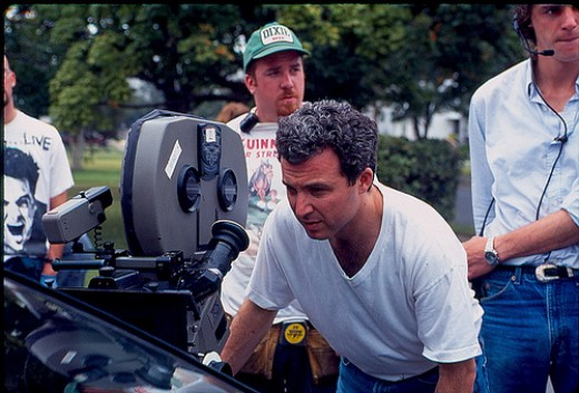 "Director Hal Selwin on the set of ""His and Hers."""