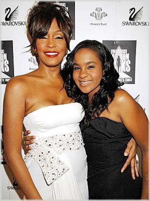 Whitney Houston with her daughter, Bobbi Kristina.
